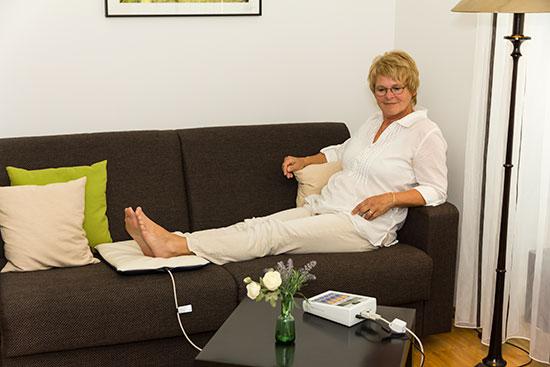 Magnetfeldmatte KLEIN - Einsatz an den Füßen